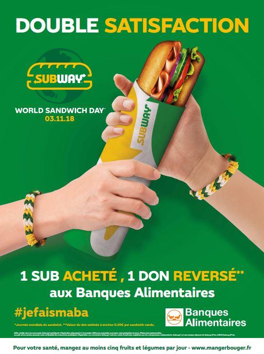 SubwayJourneemondialedusandwich