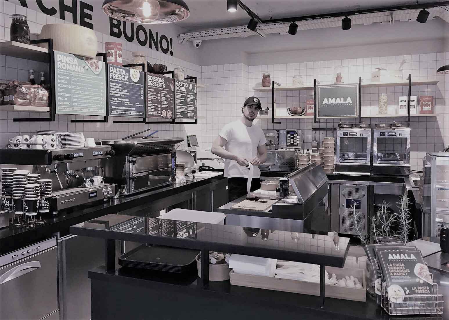 Amala Concept de street food italien à Paris dans un corner de 17 m²