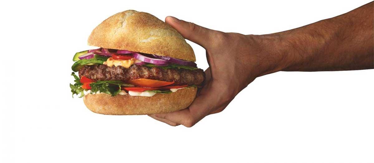 burger au pain bun maison par Salomon FoodWorld #RestartResto