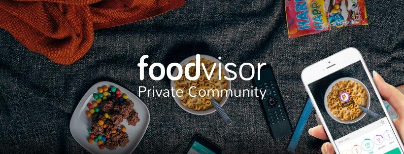 Le groupe fermé Foodvisor sur Facebook, l'application qui permet de connaître les calories de son plat à partir de sa photo