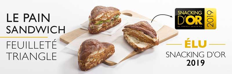 le pain sandwich feuilleté triangle snacking d'or 2019 by Coup de Pates