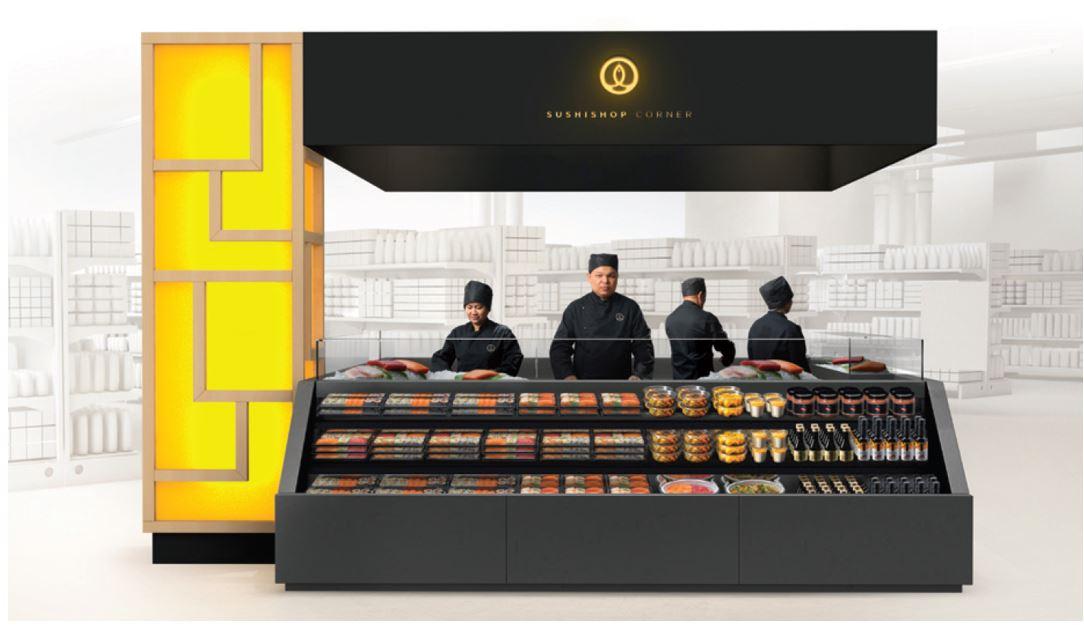 snacking.fr, Grégory-Marciano-sushi-shop-en-kiosque-en-hypermarché