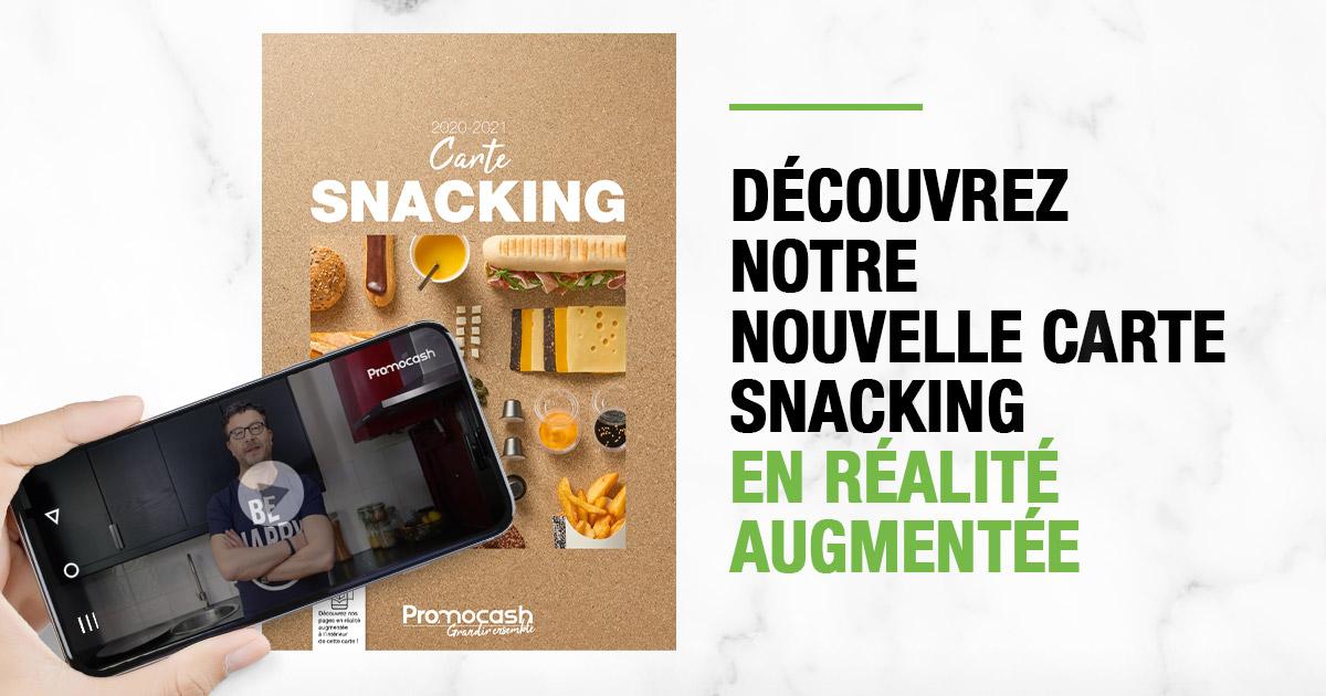 Accédez au carnet d'inspirations Snacking 2020/2021 par <a href='./fournisseur-288-Promocash.php' class='fournisseur-link'>Promocash</a> en réalité augmentée