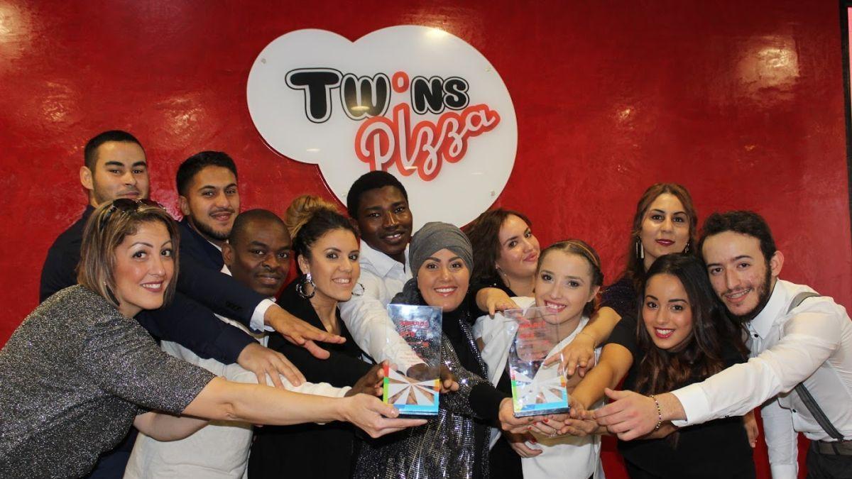 Aida Beldi et son équipe Twins Pizza remporte l'award de la restauration livrée par Just Eat