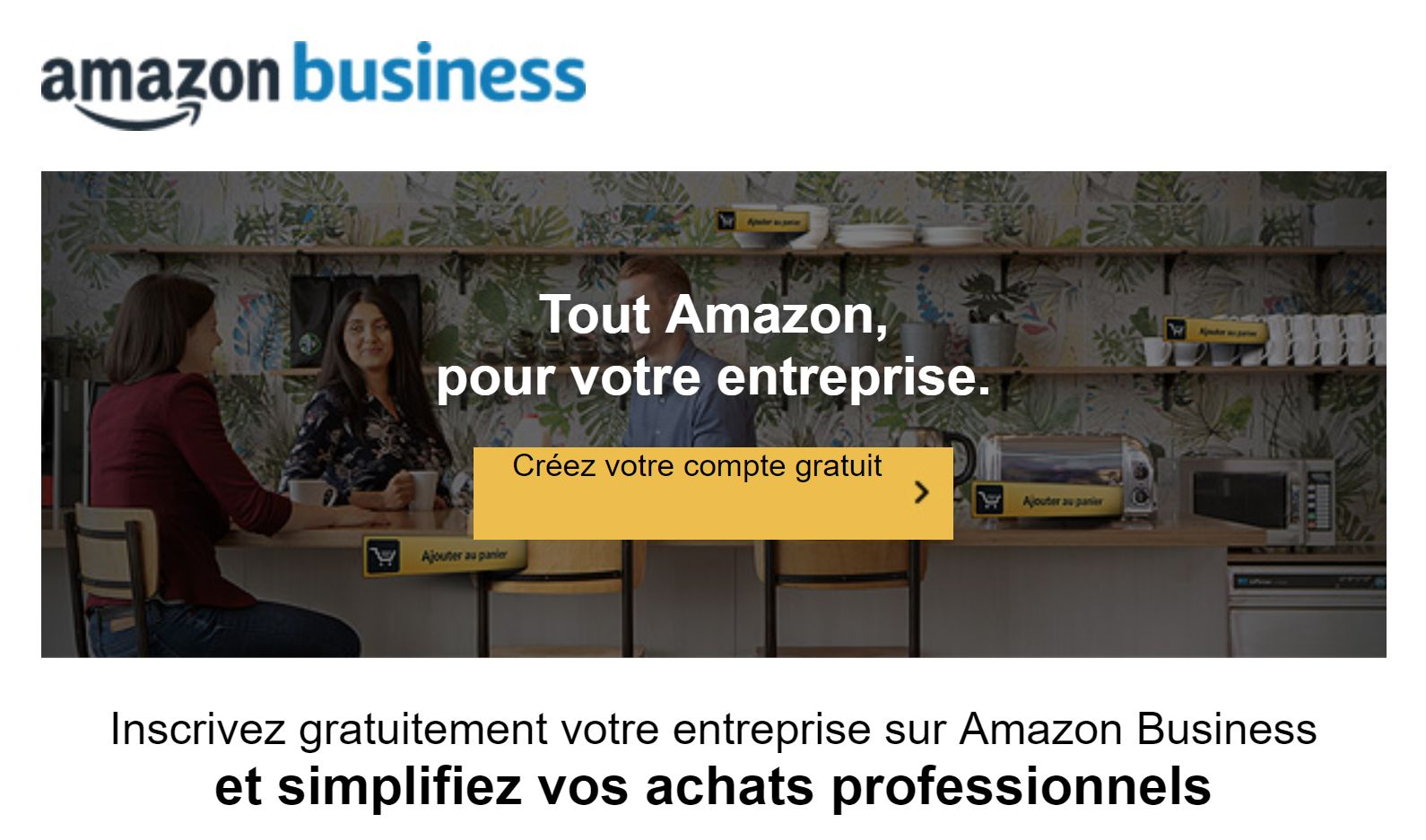 amazon for business créer son compte