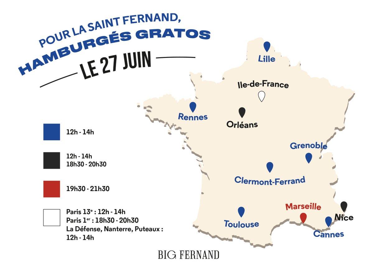 Saint Fernand, opération promo Big Fernand, venir avec une veste à carreaux