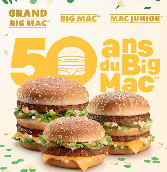 les 50 ans de Big Mac McDonald's