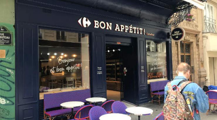 Bon Appétit par carrefour à Paris 77 rue Rambuteau - façade de l'enseigne