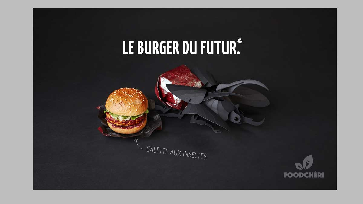 burger aux insectes foodcheri snacking foodtech