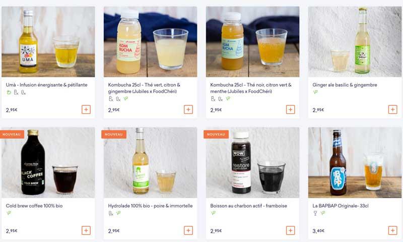 carte des boissons énergisantes, stimulantes by FoodChéri