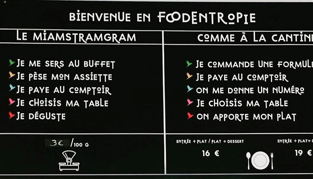 foodentropie miamstramgram formule de restauration au buffet à payer au poids
