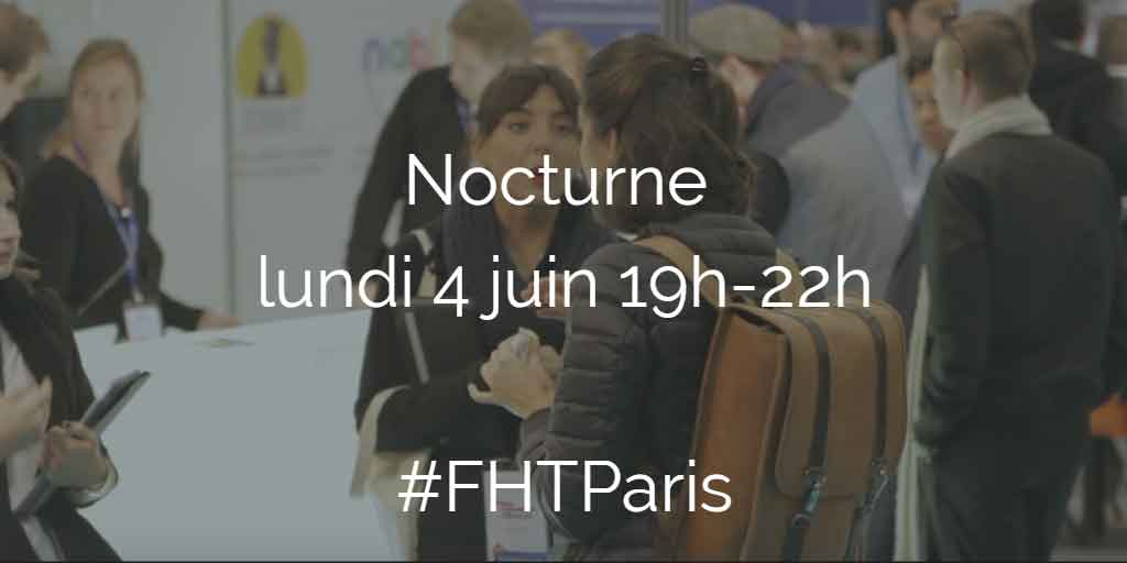 nocturne le lundi 4 juin 2018 au salon Food Hotel Tech