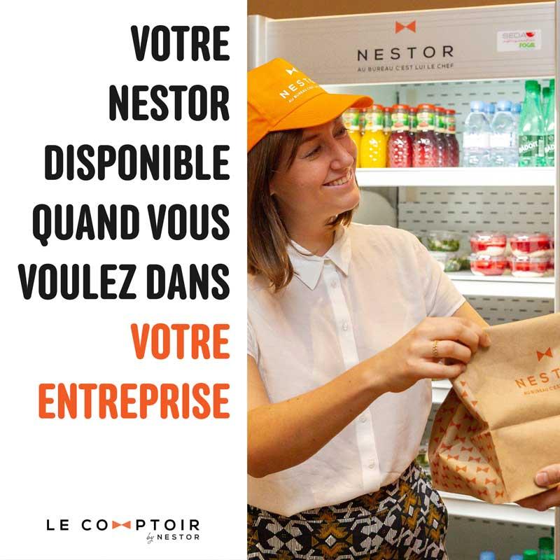 Le comptoir Nestor en entreprise par Nestor Paris