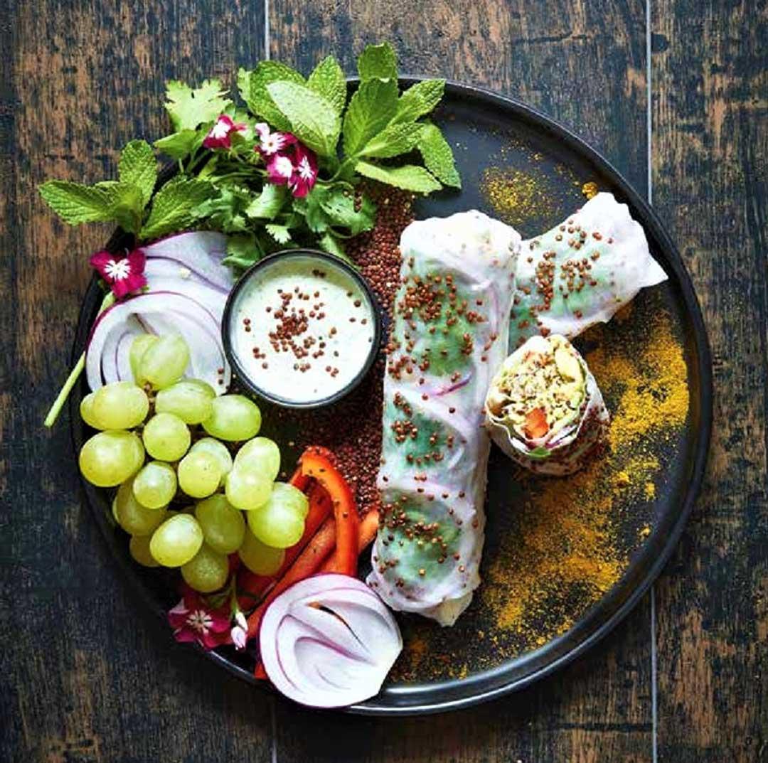 Rolls de poulet au curry et quinoa : découvrir la recette de Picky Spring