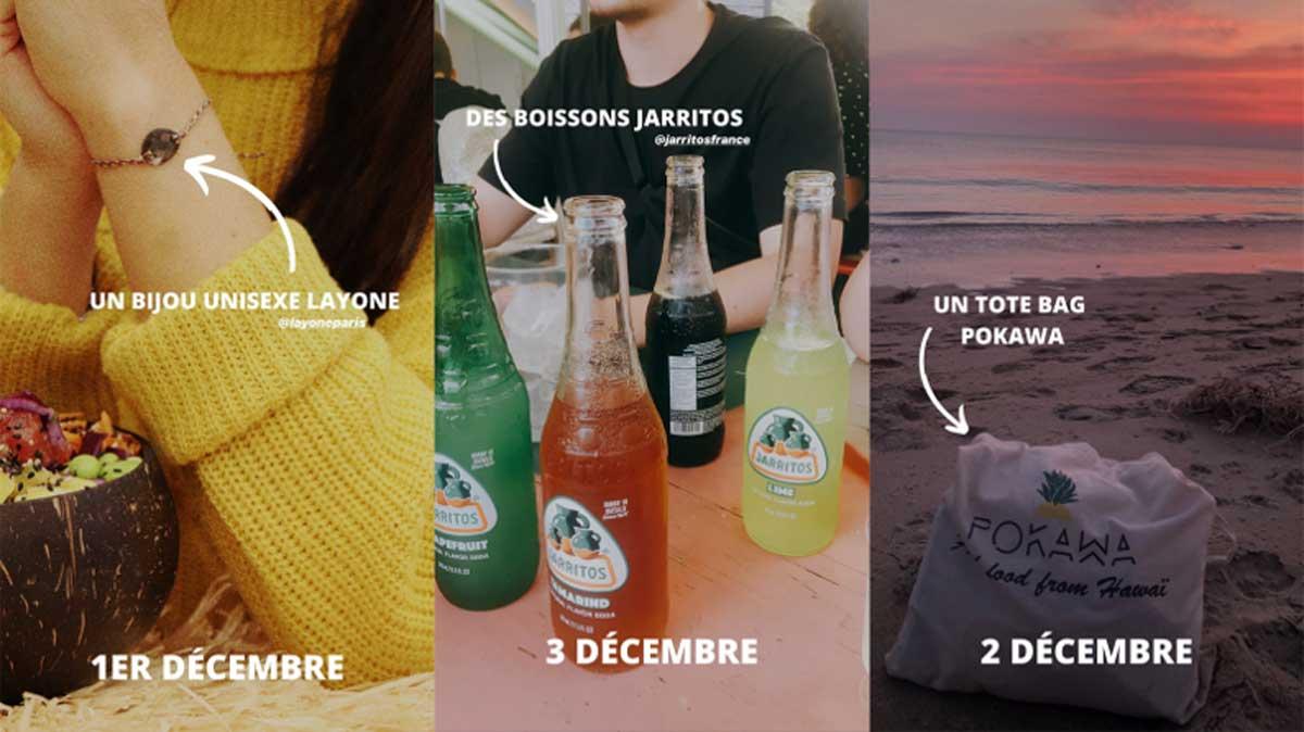 story pokawa noel calendrier de l'avent sur instagram