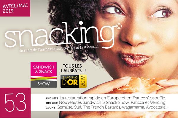 magazine france snacking numero 53 avec l'enquête sur la restauration rapide en france et en europe