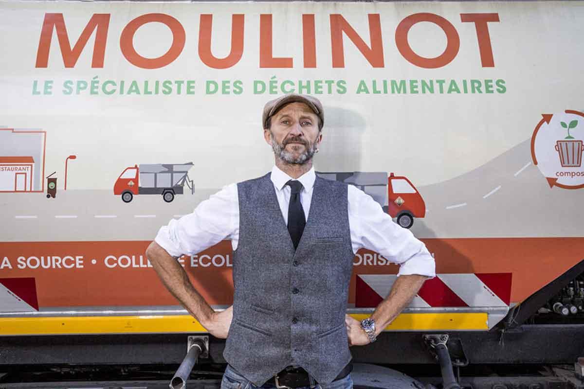 stephan martinez fondateur de Moulinot gaspillage alimentaire et recyclage des déchets