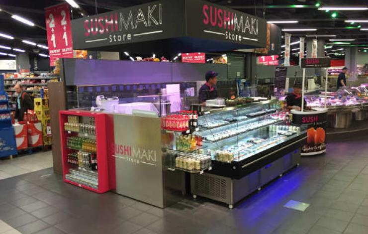 Sushi Maki Store va installer un kiosque avec consommation sur place chez Leclerc