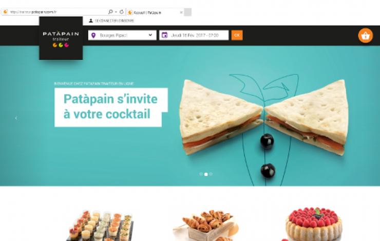 Digitalisation, Patàpain en ligne avec son offre traiteur