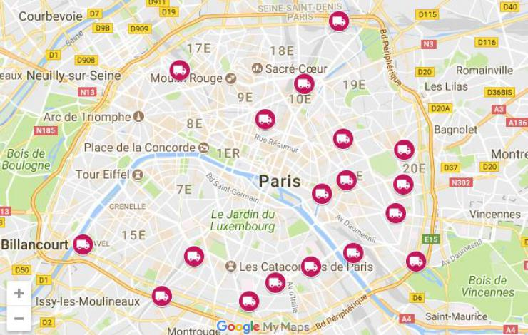 Accueil royal pour 41 food trucks à Paris