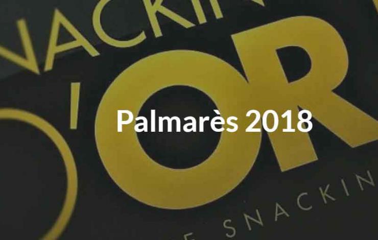 Snacking d'Or, découvrez le Palmarès Officiel 2018 qui vient de paraître