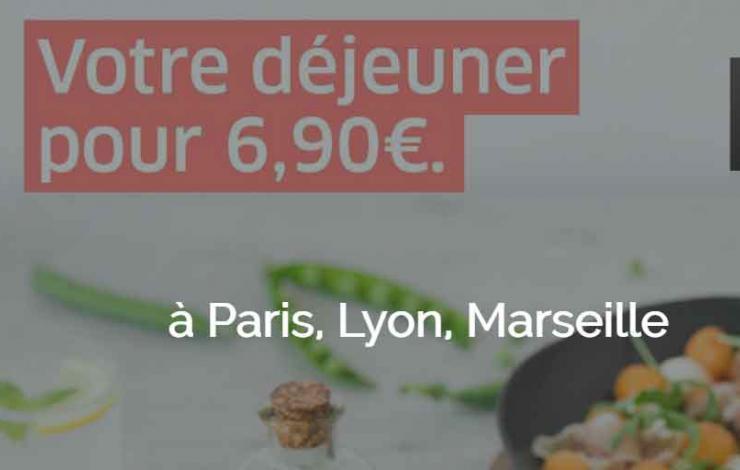 UberEats lance une formule déjeuner à 6,90 € à Paris, Marseille et Lyon.
