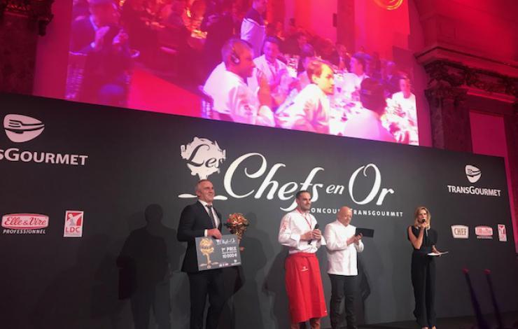 Le Français Dylan Desmoulin remporte Les Chefs en Or by Transgourmet