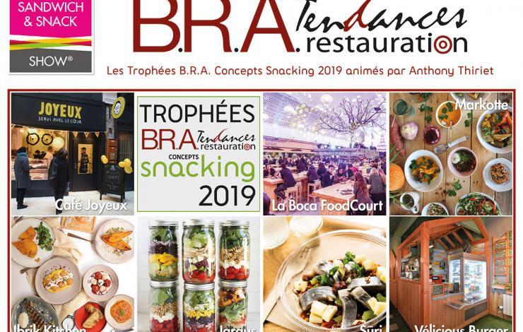 Les Trophées B.R.A. Concept Snacking récompensent 7 concepts