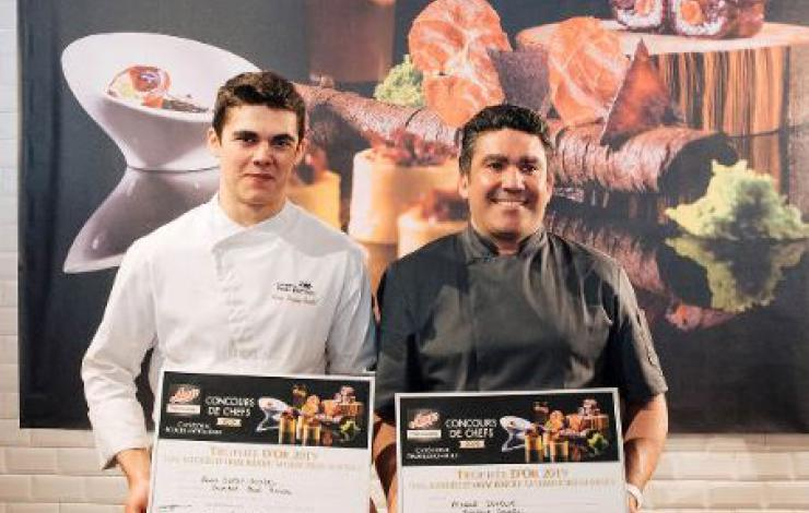 2 lauréats en or pour le concours de Chefs Aoste Professionnel 2019