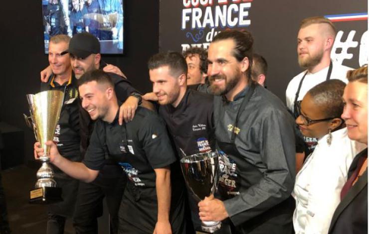 Anthony Verset, avec Le Chaillet, champion de la Coupe de France 2019 du Burger by Socopa