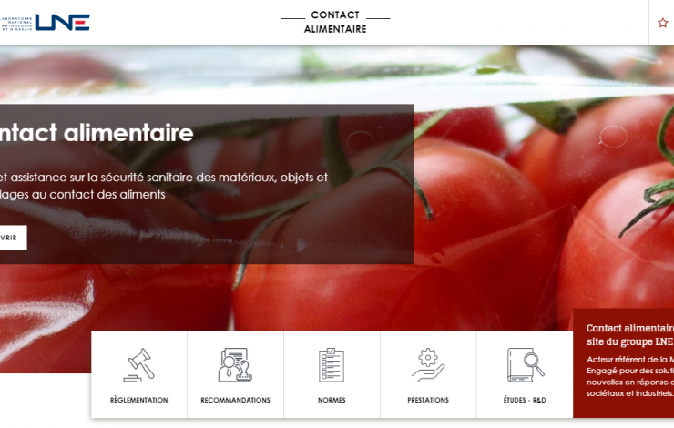 contact alimentaire LNE