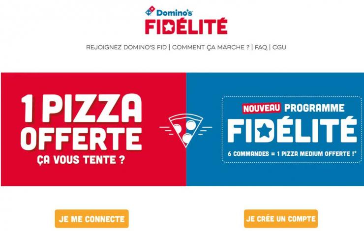domino's pizza programme fidélité marketing digital en snacking