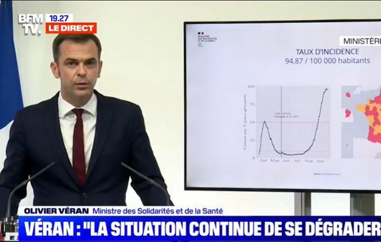Olivier Véran plan d'alerte en France 2e vague du corona virus