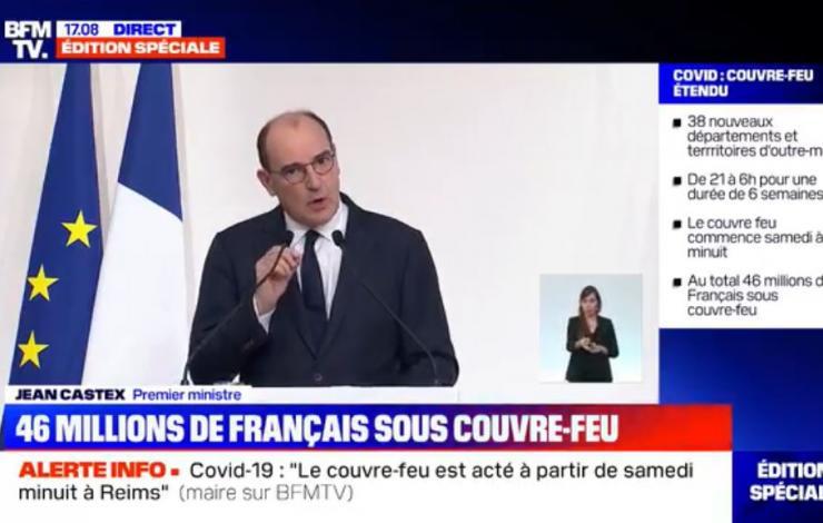 #Couvre-feu pour 54 départements et la Polynésie française, un nouveau coup de massue pour la restauration