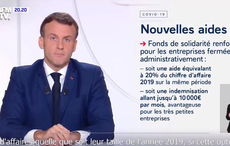 emmanuel macron reconfinement