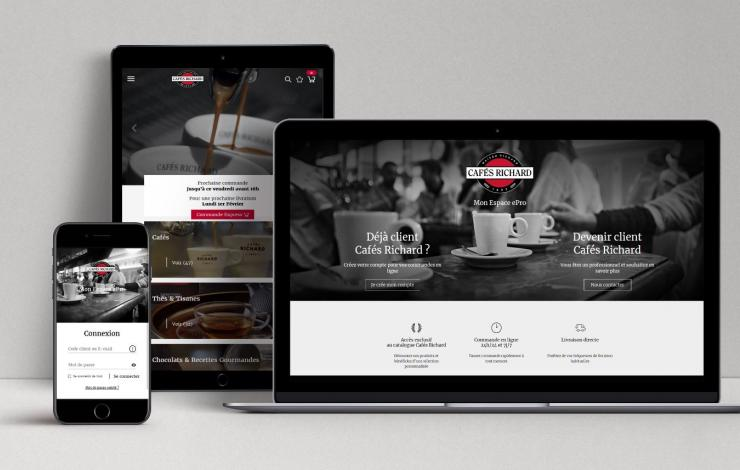 ePros Cafés Richard torréfacteur site digital