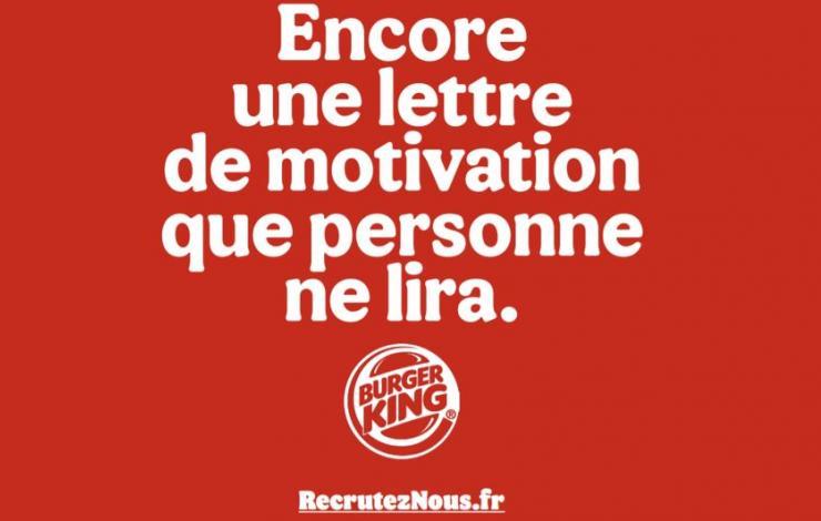 Burger King veut redonner l'envie de travailler en restauration avec sa campagne Recrutez-Nous.fr