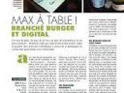 Max à table ! branché burger et digital