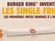 Single Fries, les frites vendues à l'unité chez Burger King, comme un poisson d'avril