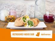 Deliveroo et Franprix noé, associés pour livrer aux Parisiens, des formules responsables