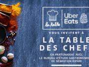 29 cuisiniers à La Table des Chefs d'UberEats et de Sébastien Ripari pour Goût de France