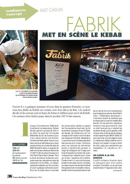 Fabrik met en scène le Kebab