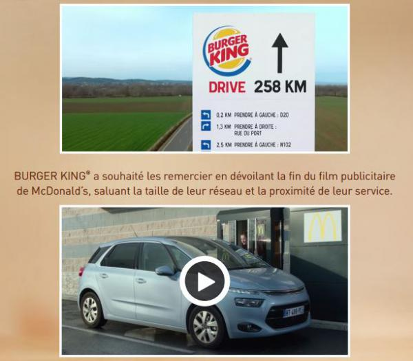 Burger King-McDonald's, Episode 2. Quand BK termine le film de McDo