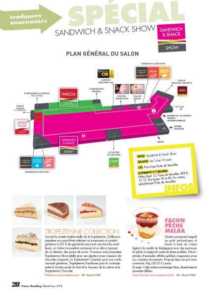 Préparez votre parcours découvertes des nouveautés sur le salon Sandwich & Snack Show grâce à France Snacking