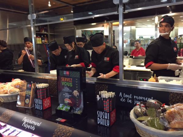 Sushi Daily, 1er kiosque à la gare Montparnasse avant la gare de Lyon