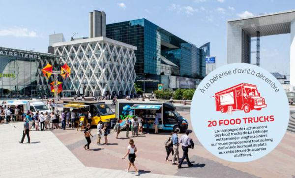 Les food-trucks en station à la Défense