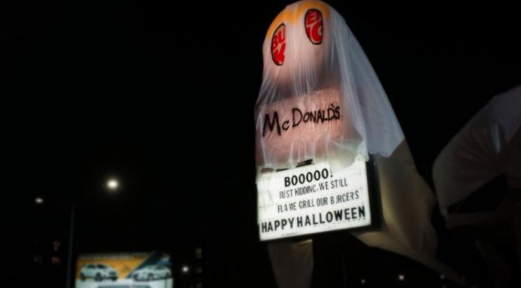 Burger King en fantôme de McDo pour Halloween