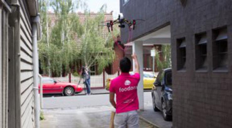 Foodora teste la livraison par drone en Australie avant  l'Europe en 2017