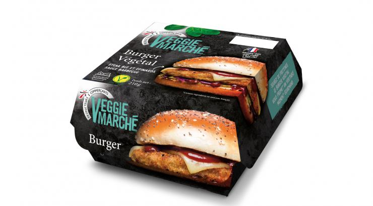 Intermarché lance son burger végétal Veggie Marché