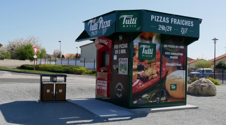 Tutti Pizza mise sur son distributeur automatique de pizzas Tutti Matic